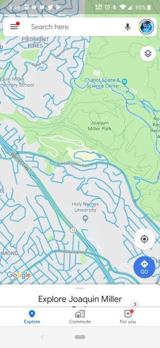 İndi Android-də Google Xəritədə Street View təbəqəsi var 2