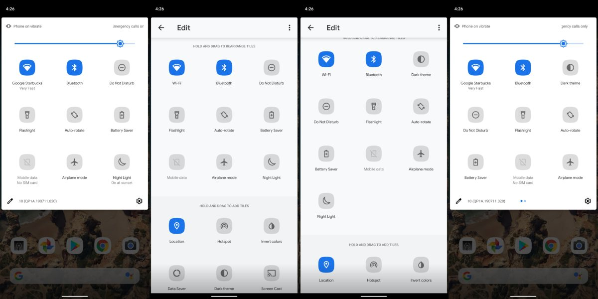 Android 10 Pengaturan Cepat Mode Gelap