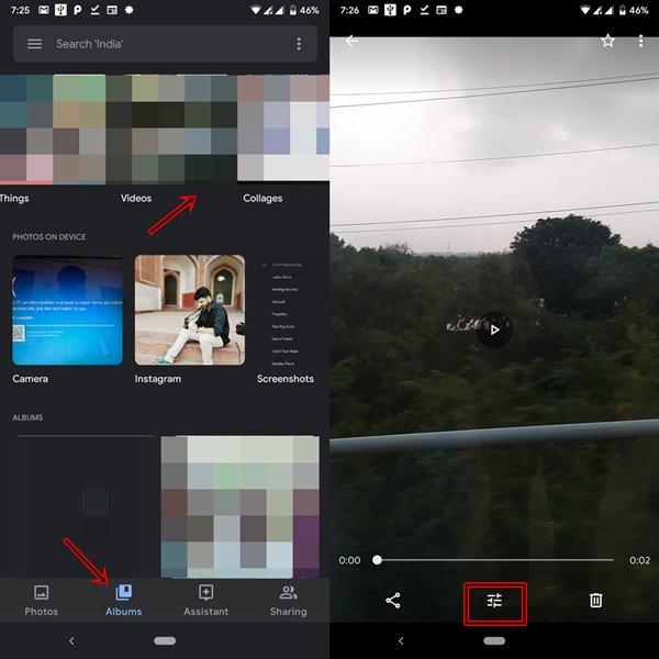 reproducir video en google photos