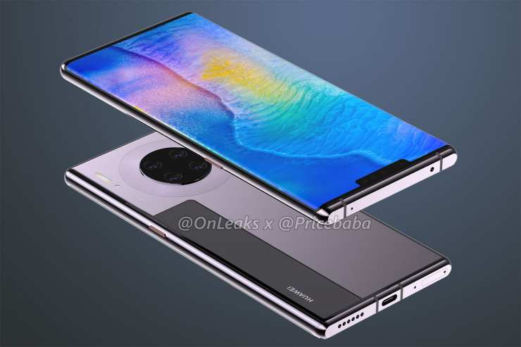 Најновиот рендерирање од Huawei Mate 30 Pro, детално го открива неговиот дизајн 2