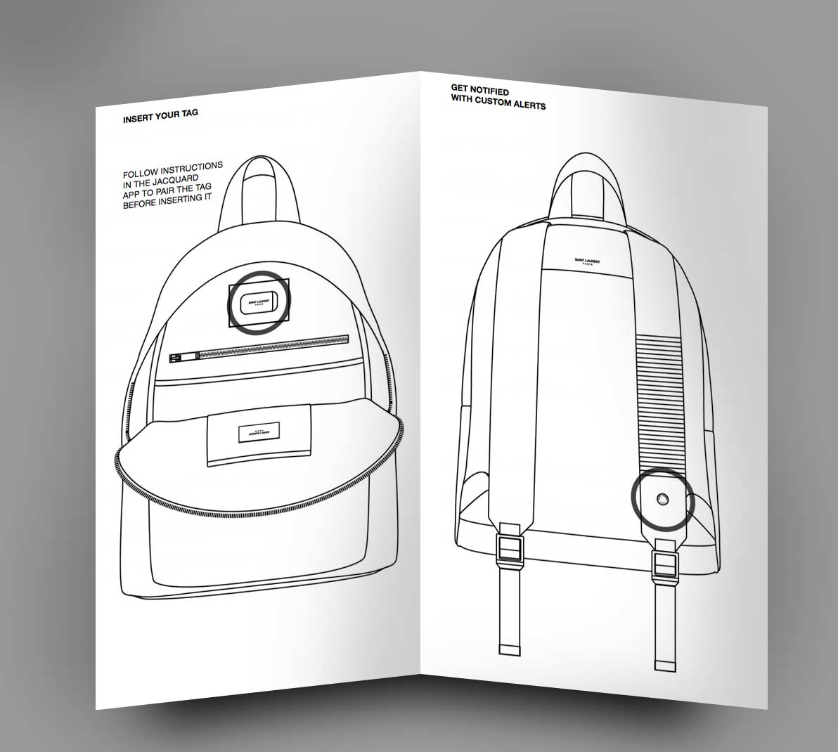 YSL CIT-E sırt çantası Google-un yaxınlaşan ağıllı moda jakarının bir hissəsidir 1