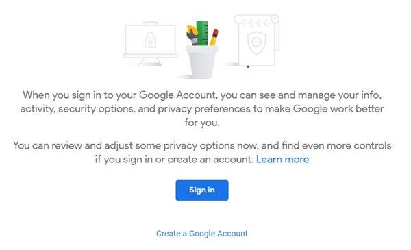 Google hesabınıza daxil olun