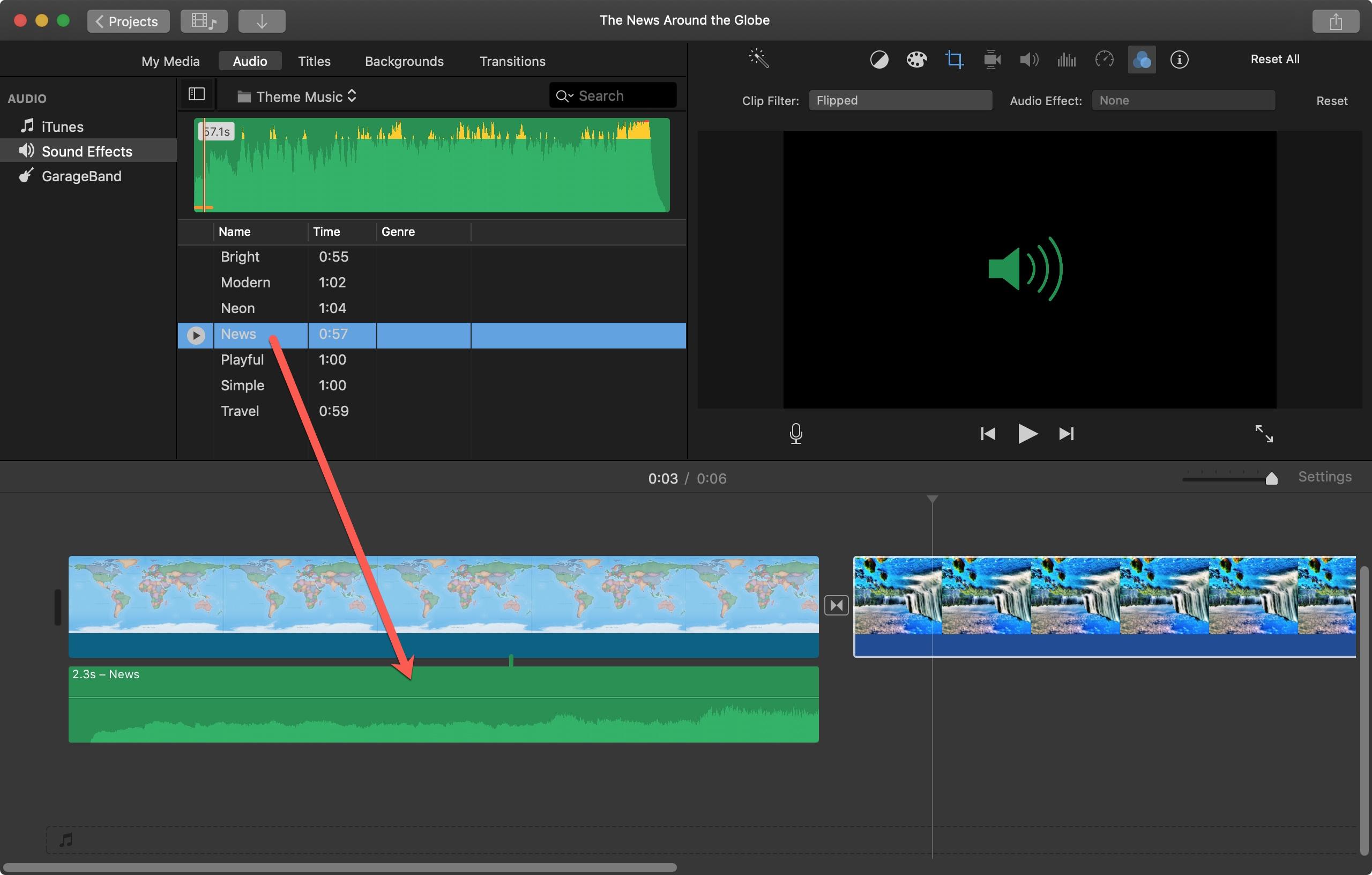 Mac iMovie Audio əlavə edin