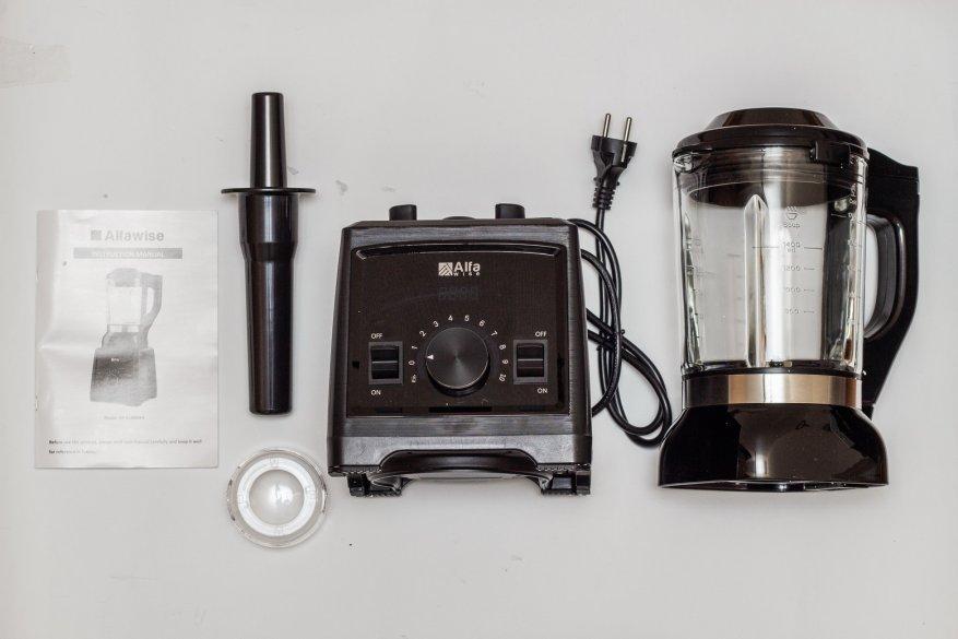 Ulasan Alfawise Stationary Blender: 2.000 Watt Power dan 2 L Glass Bowl 7