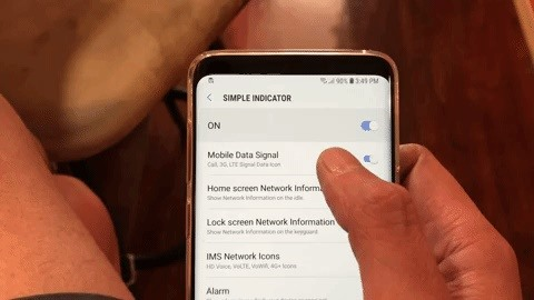 Bagaimana menghapus ikon bilah status pada Anda Galaxy S8, S9 atau Note 8