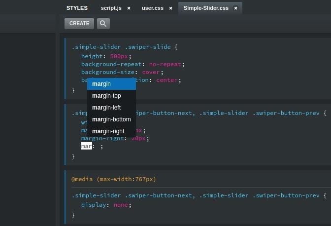 Editor de texto de Bootstrap Studio