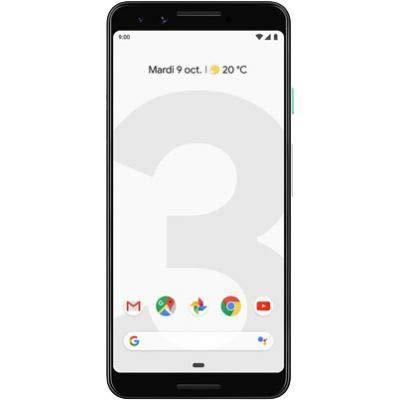 "Google 99928198 - Pixel Smartphone 3, 13.86 sm (5, 46 düym), 2,5 GHz, 64 GB, 12,2 MP, rəng: şəffaf ağ ""data-pagespeed-url-hash ="" 1457690225 ""onload ="" pagespeed.CriticalImages.checkImageForCriticality (bu);"