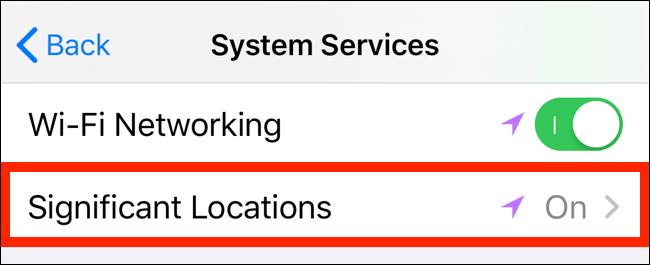 Ketuk pada Lokasi Signifikan untuk melihat detail pelacakan lokasi