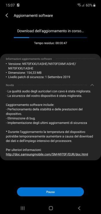 Dəyişikliklərin tam siyahısı Galaxy Note        10 | Evovsmart.it