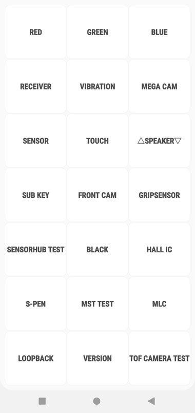 Menu dịch vụ Galaxy Note  10