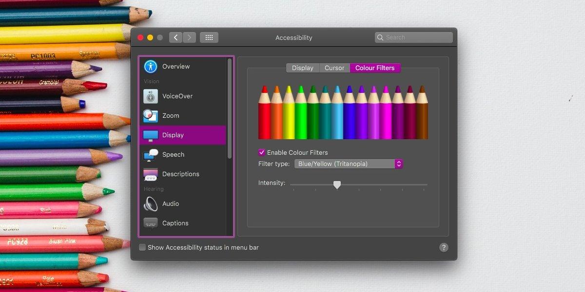 Cómo activar el filtro de pantalla daltónico en macOS 2