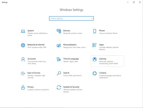 windows    la configuración
