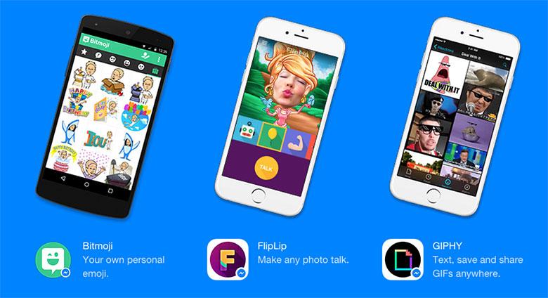 Facebook Messenger    indi GIF göndərmək və digər tətbiqlərdən istifadə etmək imkanı verir 3