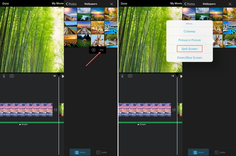 iMovie Thêm clip cho màn hình iPad