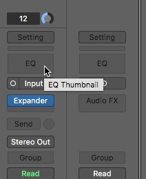 Logic Pro X noise removal equalizer adds