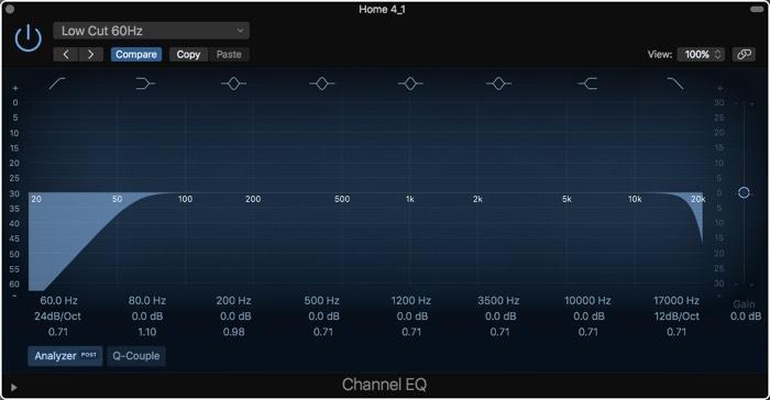 Logic Pro X -äänenvaimennuskorjaimen asettaminen