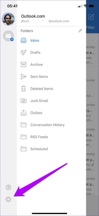 Outlook Android iOS qaranlıq rejimi 2