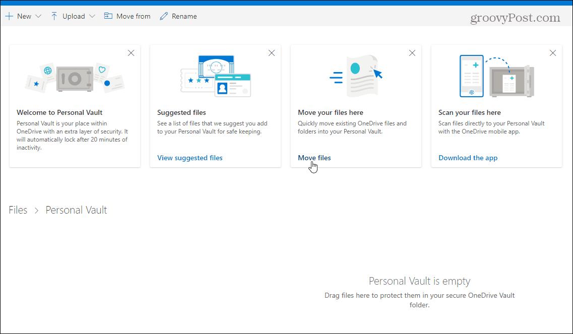 Şəxsi Vault ilə 2FA ilə OneDrive-dakı faylları necə qorumaq olar 1