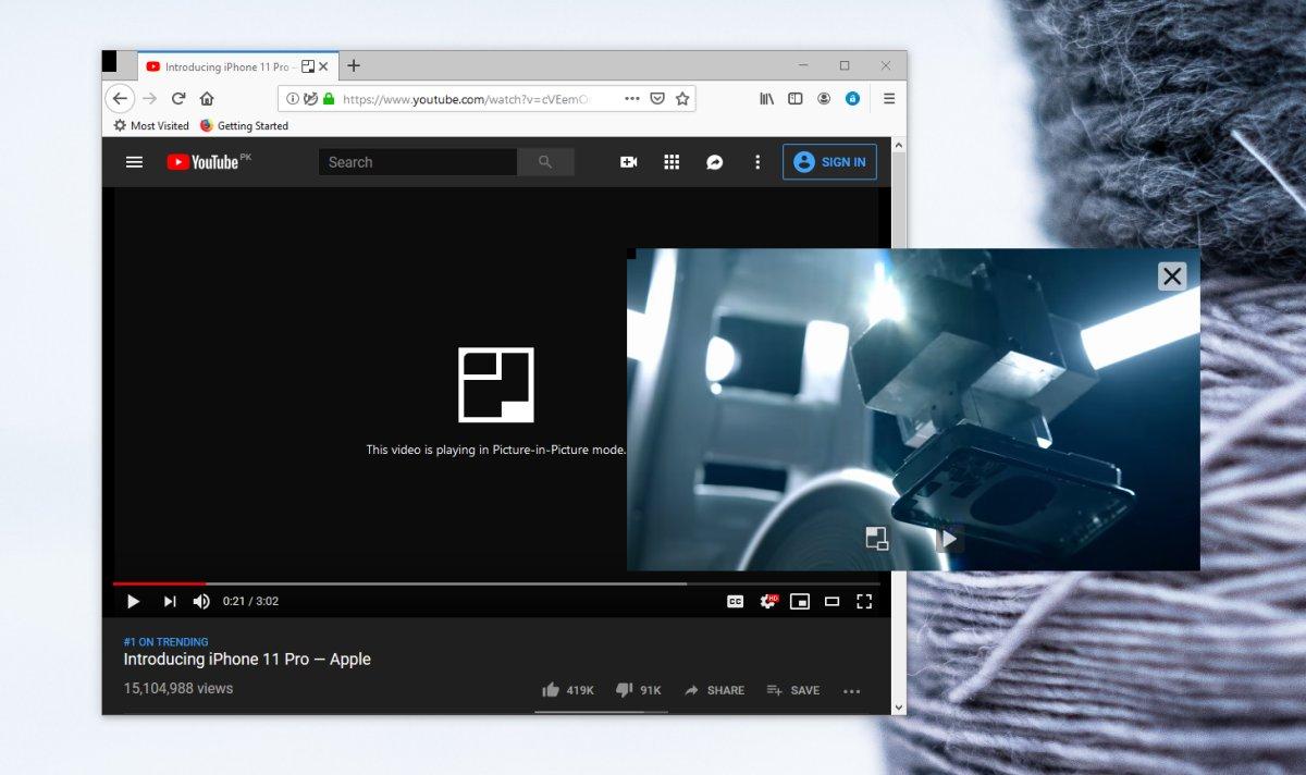 Cómo usar el modo de imagen en imagen de Firefox 1