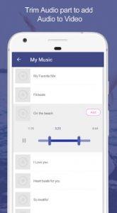Agregue audio al video: Mezclador de audio y video