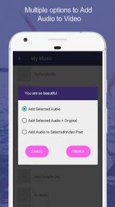 Agregar audio al video: Mezclador de audio y video