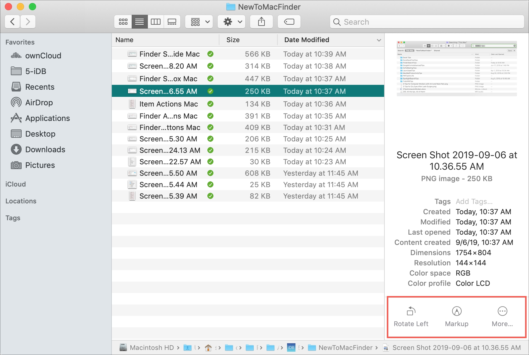 Mac Quick Action Preview Finder