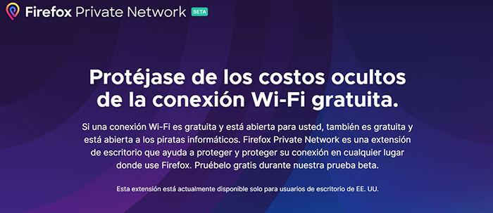 súkromná sieť firefox