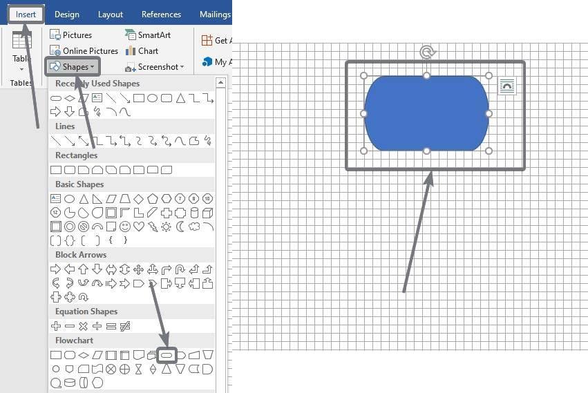 Formular diagramas de flujo en Microsoft Word y PowerPoint 10 20