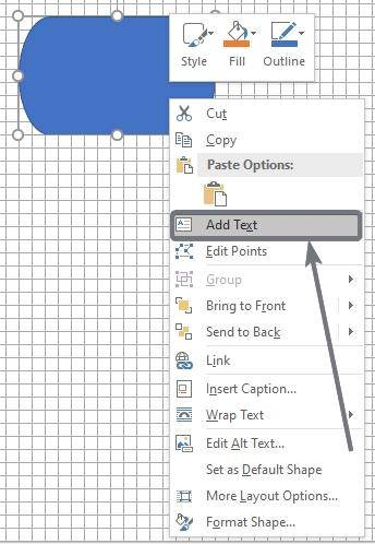 Agregar texto a diagramas de flujo