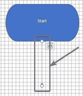 Seleccione la flecha de línea o el conector de codo