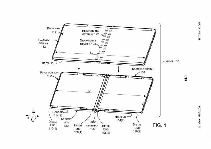 Microsoft patent büyük bir sorunu çözecek Galaxy Fold        ve başka bir kat 1