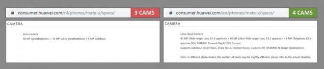 Phiên bản Huawei Mate X đã kết thúc để hiển thị camera mới, được tiết lộ bởi TENAA, các nguồn khác 2