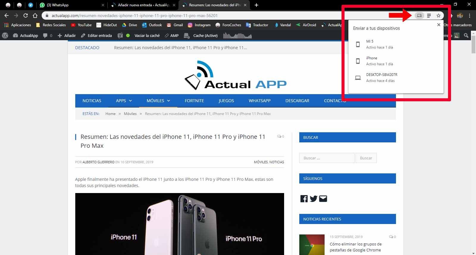 počítačová sieť pre Google Chrome Mobile