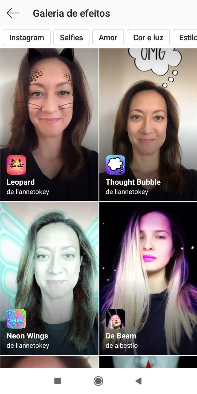 Cara mencari dan menerapkan efek pada Instagram? 4