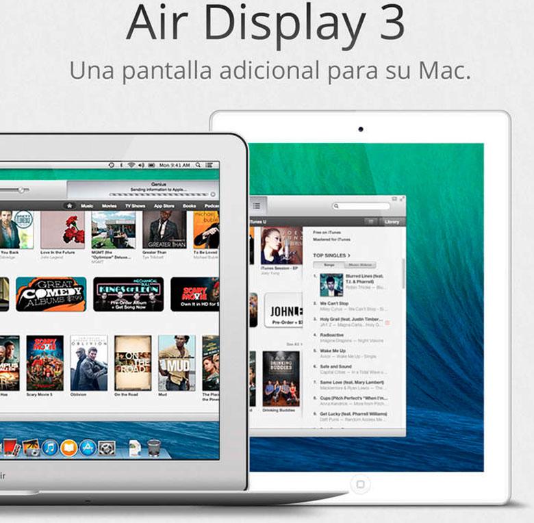 Hava ekrani 3, USB və Wi-Fi ilə bir iPhone və ya iPad-də Mac ekranlarını kopyalamaq üçün bir tətbiq 3