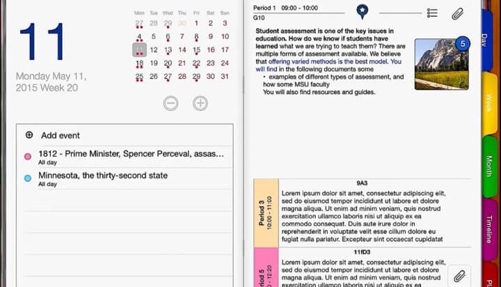 Şəkil - iDoceo, iPad-də müəllimin dəftərini yükləyin