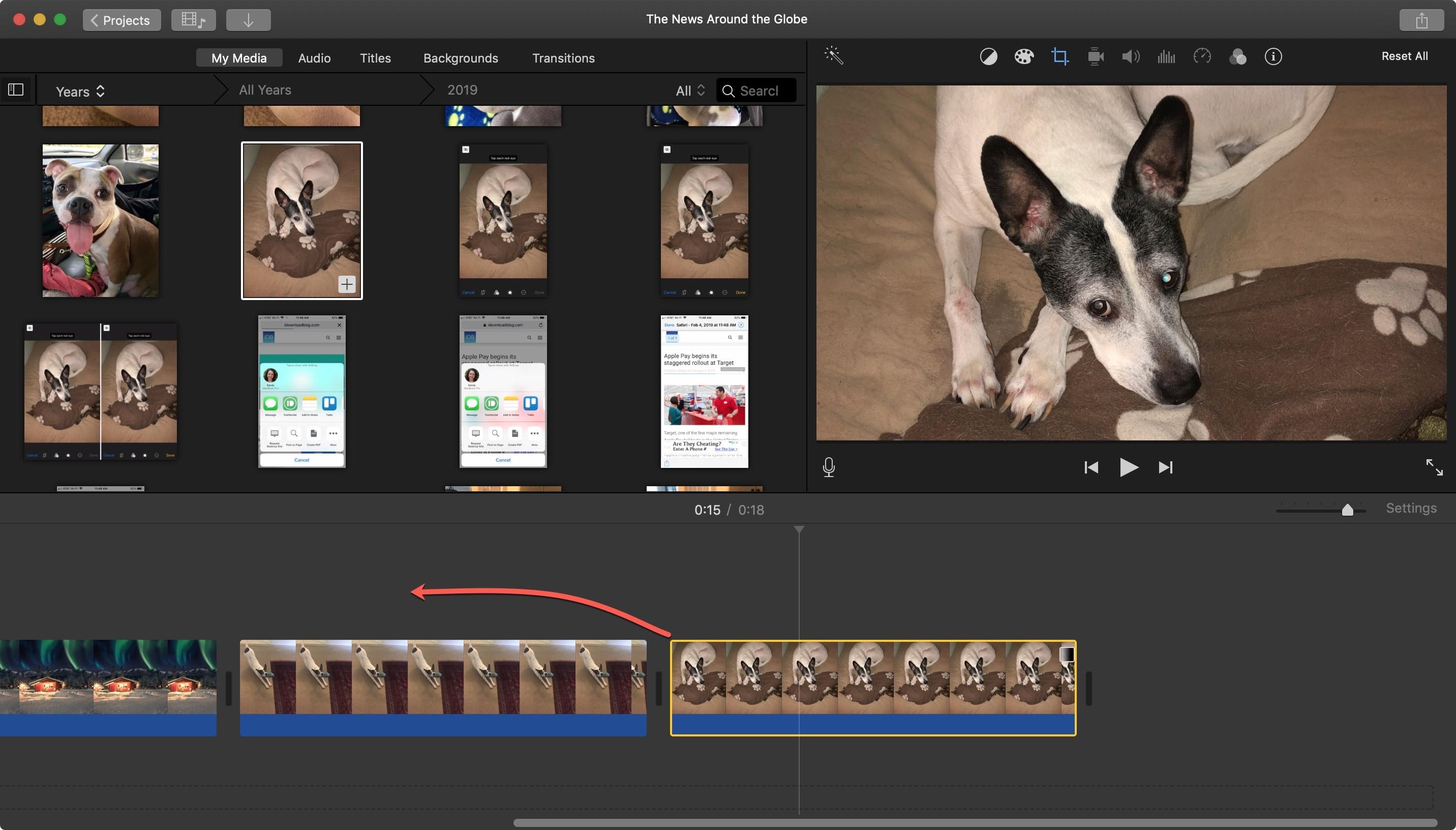 iMovie Vytváranie obrázkov na počítačoch Mac