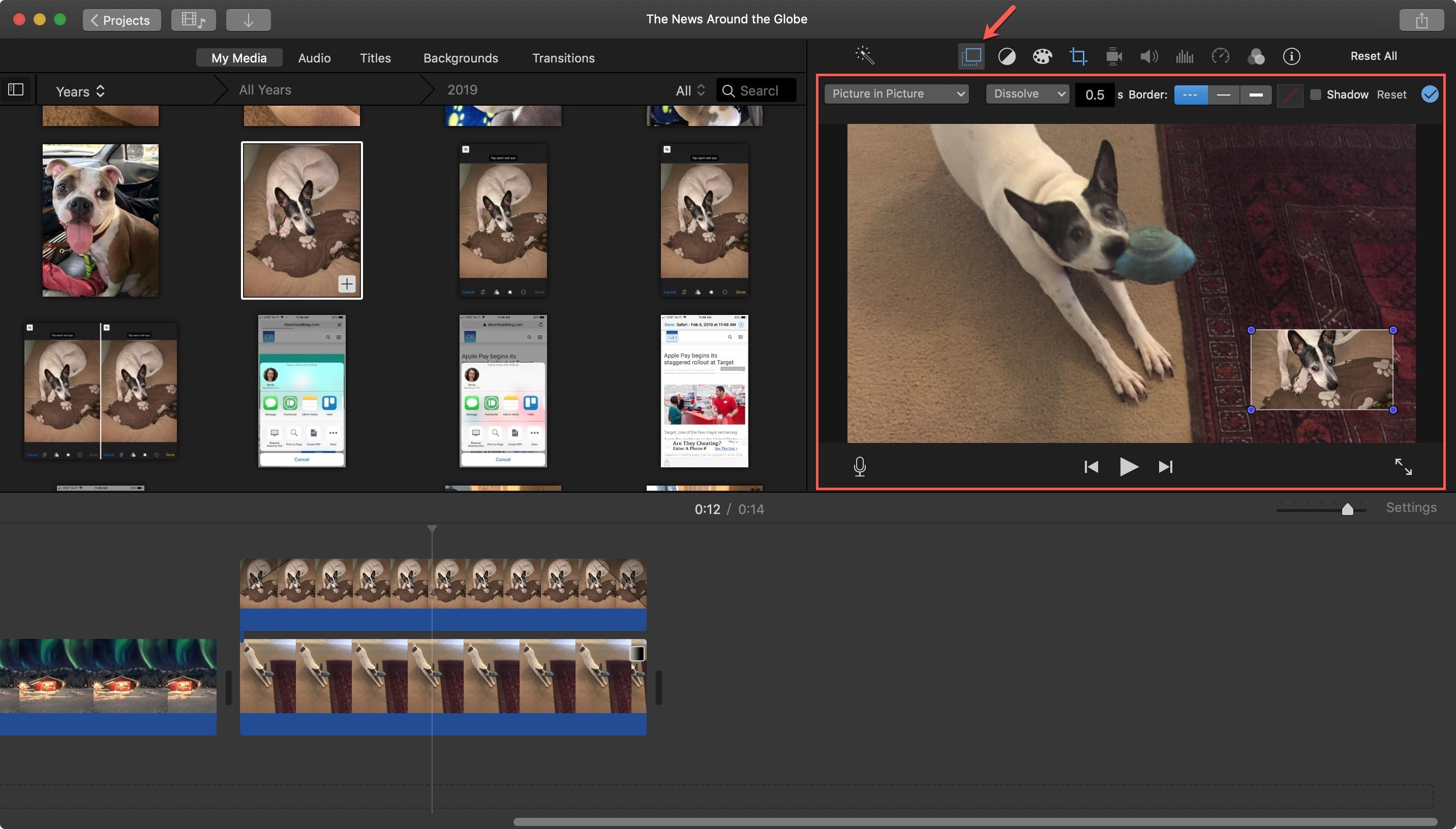 iMovie Upravujte obrázky na obrázkoch Mac