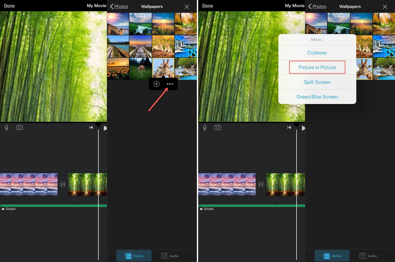 iMovie Vytvárajte obrázky na obrázkoch iPadu