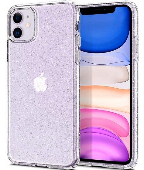 Lindas cintas de Crystal Spigen Liquid para iPhone 11