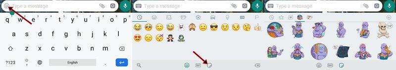Adesivos de telegrama no WhatsApp