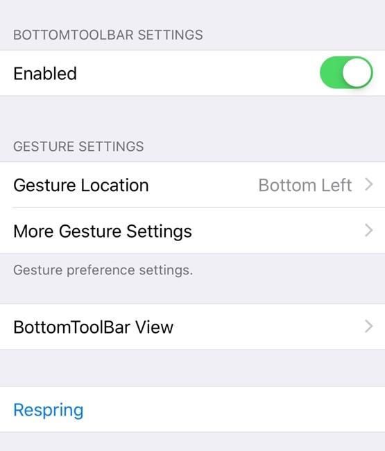 BottomToolBar le facilita el acceso a las funciones más importantes de su iPhone 3