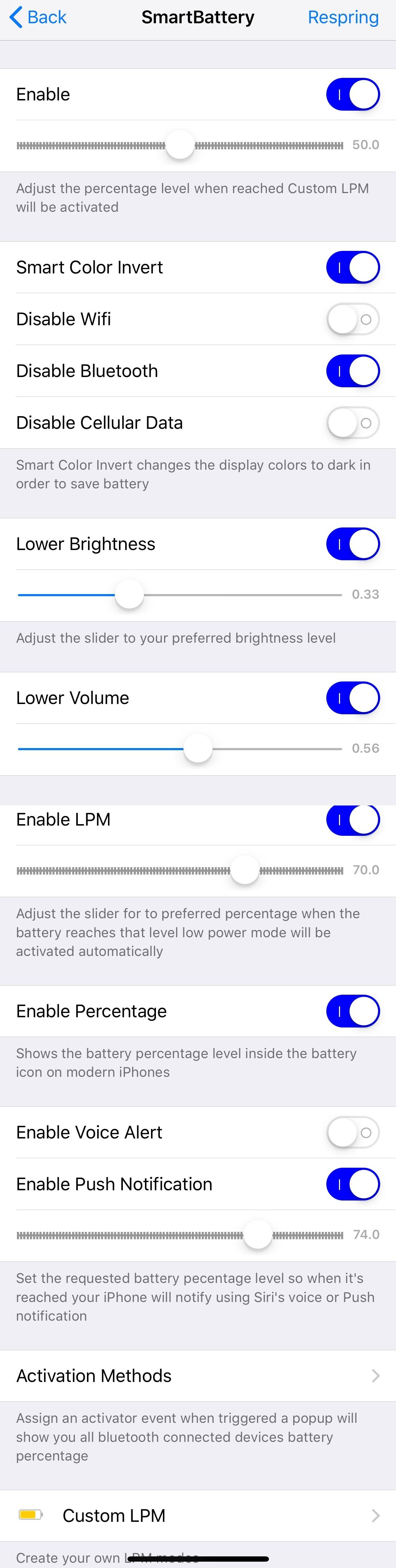 SmartBattery puede ayudar a aumentar la duración de la batería de su teléfono móvil con jailbreak 3