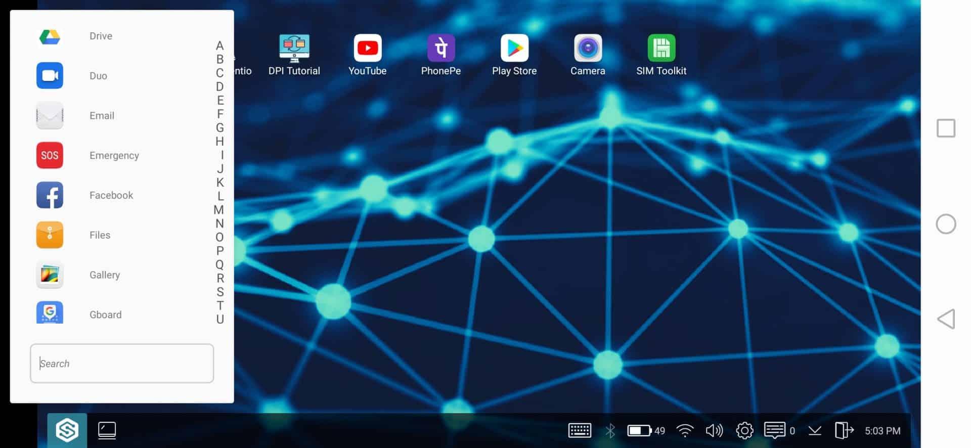 Sentio Desktop istifadə olunur