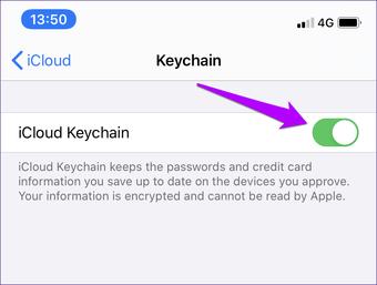 I Cloud Keychain ei synkronoi Fix 10: tä