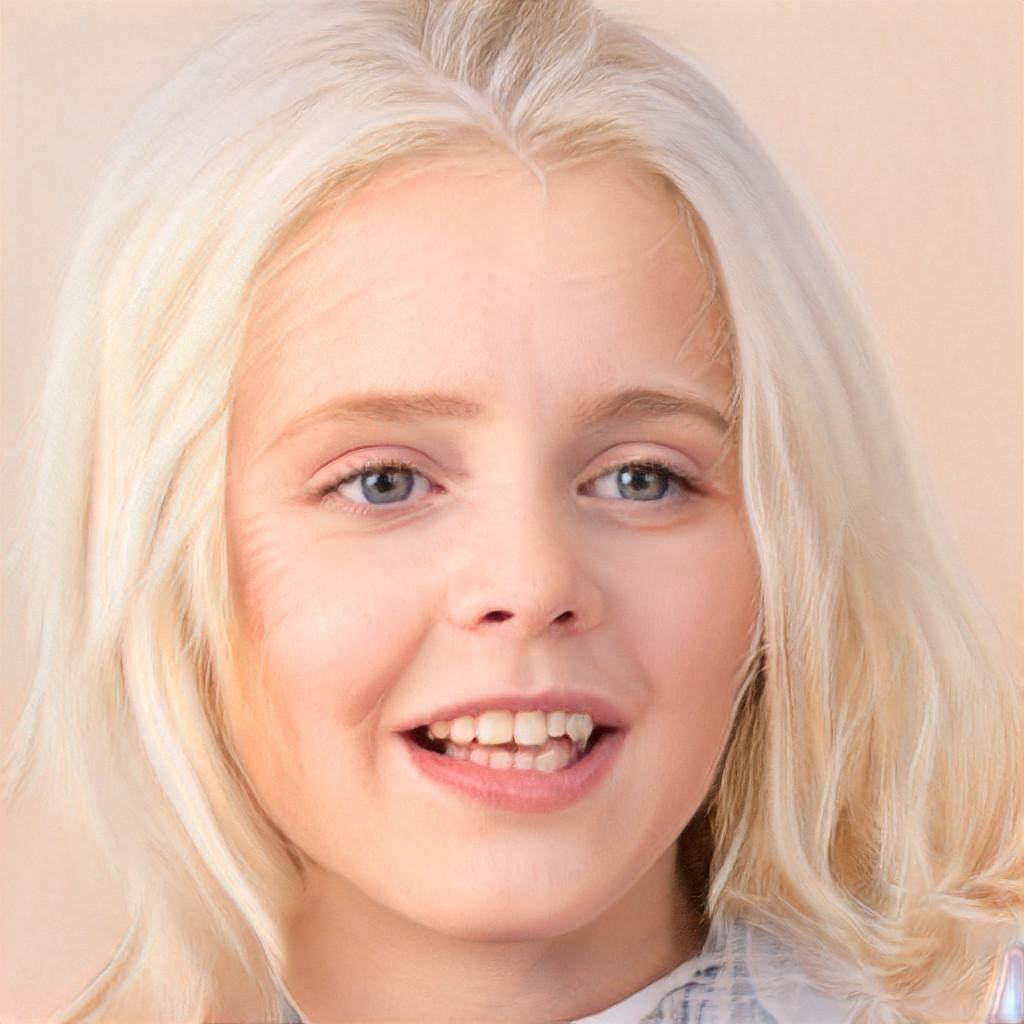 Anak yang dihasilkan oleh AI ini terlihat muda dan tua