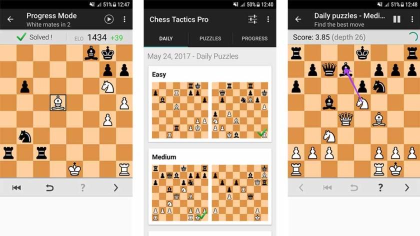 """Chess Tactics Pro - le meilleur jeu d'échecs pour Android """"width ="""" 840 """"height ="""" 472"""