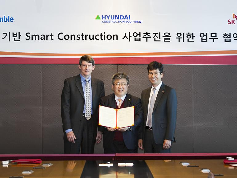 SK Telecom, Hyundai, dan Trimble menggunakan 5G dalam konstruksi