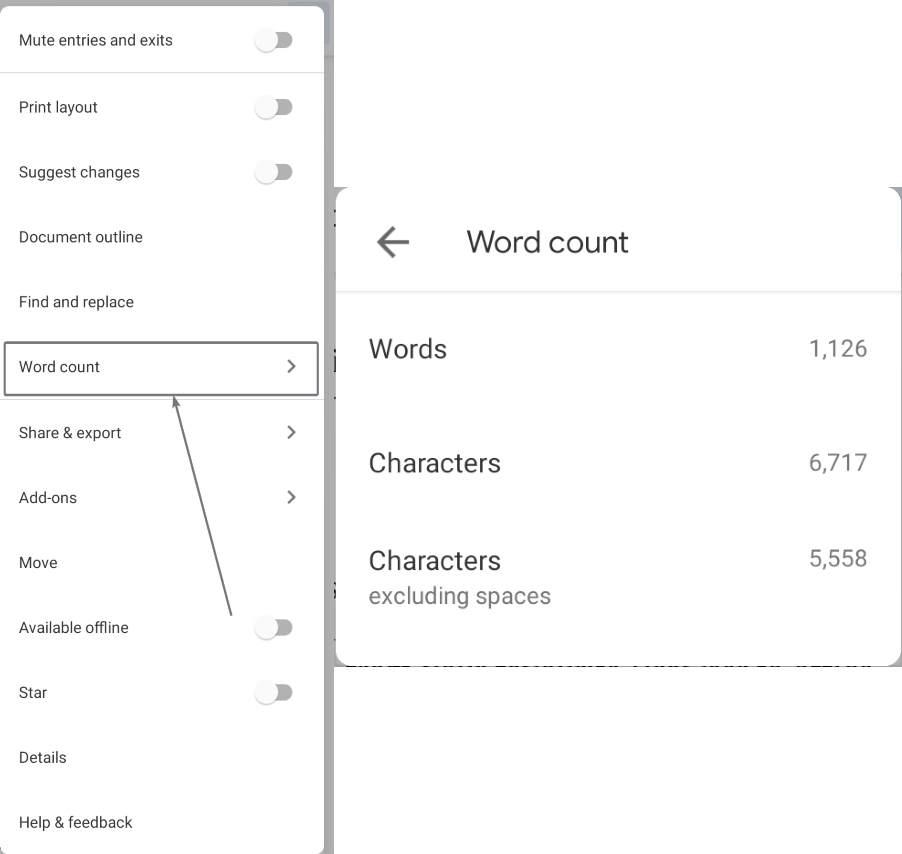 Mobil Google Sənədlər üçün Word sənədlərinin sayı