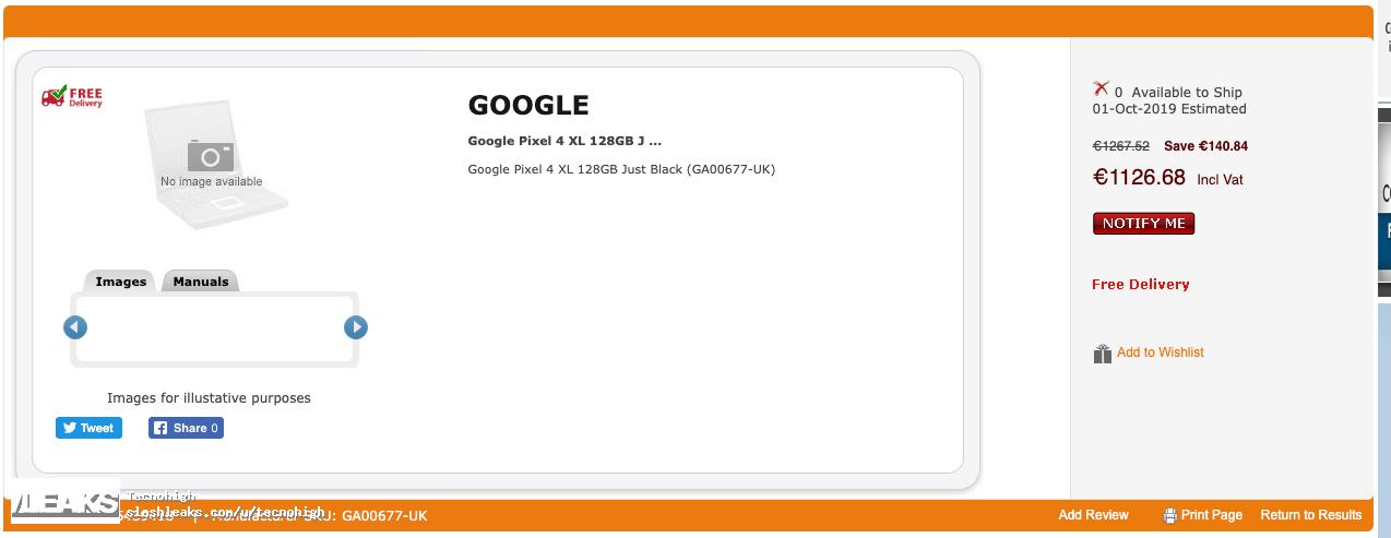 Google Piksellər 4 XL